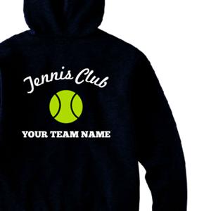 Tennis Clubとテニスボールイラストでデザインした、オリジナルパーカー