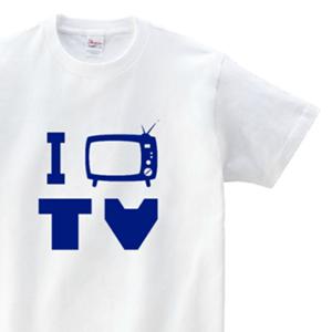 I LOVE TV とデザインした、オリジナルTシャツ