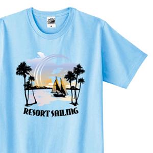 南国のイラストでデザインした、オリジナルTシャツ