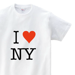 I LOVE NYとハートイラストでデザインした、オリジナルTシャツ
