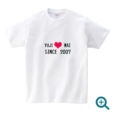 カップル名入れTシャツメンズSINCE