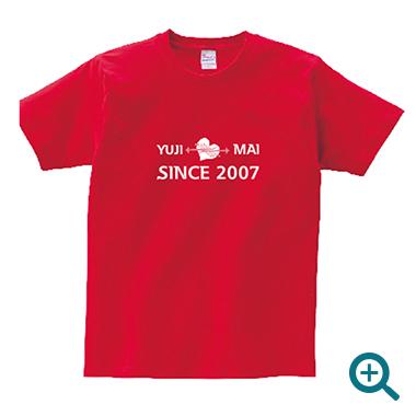 カップル名入れTシャツレディースSINCE