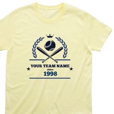 野球エンブレム オリジナルTシャツ