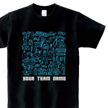 HIPHOPドローイング オリジナルTシャツ
