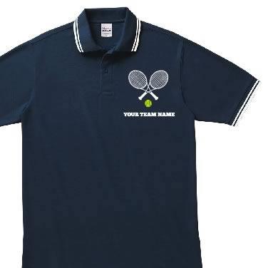 テニスラケット オリジナルポロシャツ