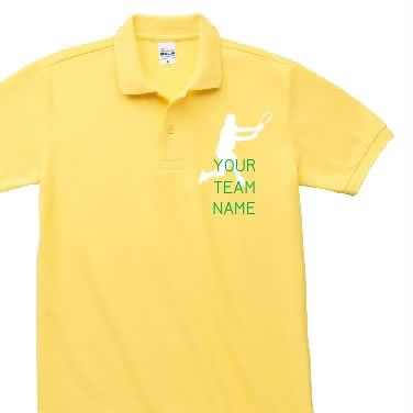 テニスシルエット オリジナルポロシャツ