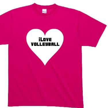 i LOVE VOLLEYBALL オリジナルTシャツ