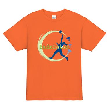 「サーブ」オリジナルバドミントンチームTシャツ