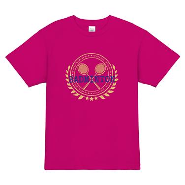 「BADMINTON」オリジナルバドミントンチームTシャツ