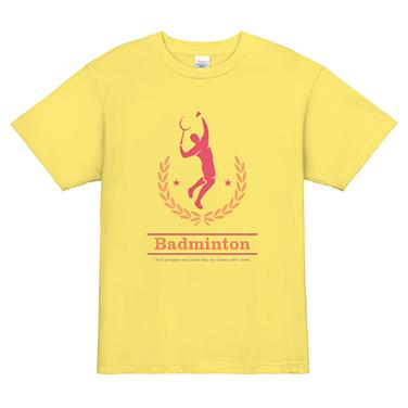 「シルエット」オリジナルバドミントンチームTシャツ