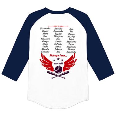 「WING」オリジナル草野球チームTシャツ