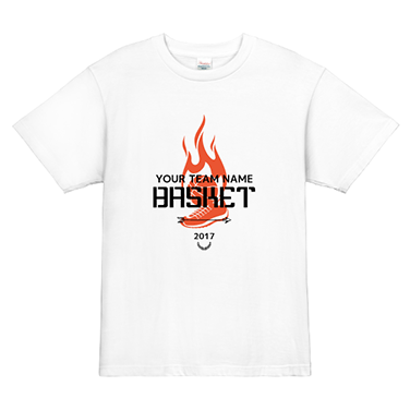 「BASKET SHOES」オリジナルバスケチームTシャツ