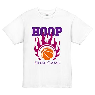 「HOOP 希望を胸に」オリジナルバスケチームTシャツ