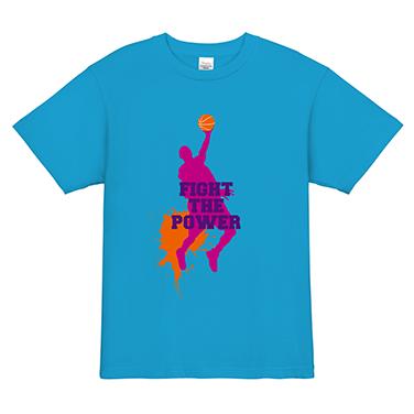 「FIGHT THE POWER」オリジナルバスケチームTシャツ