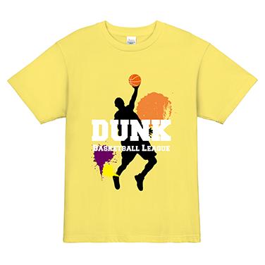 「DUNKシュートを決めろ!」オリジナルバスケチームTシャツ