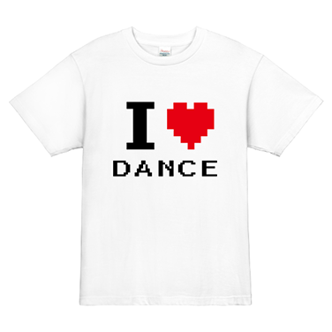 「I LOVE DANCE」オリジナルダンスチームTシャツ