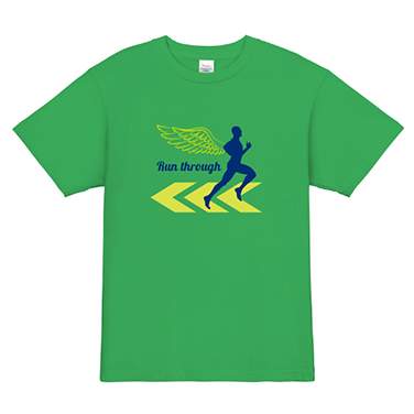 「run through」オリジナルランニング・ジョギング・マラソンチームTシャツ