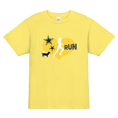 「RUN☆」オリジナルランニング・ジョギング・マラソンチームTシャツ