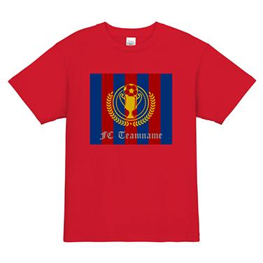 「FCバルセロナ風」オリジナルサッカー・フットサルチームTシャツ