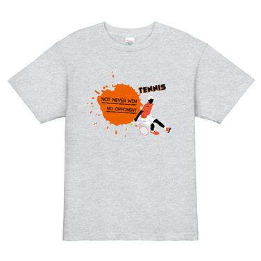 「NOT NEVER WIN」オリジナルテニスチームTシャツ