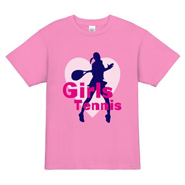 「シルエット」オリジナルテニスチームTシャツ