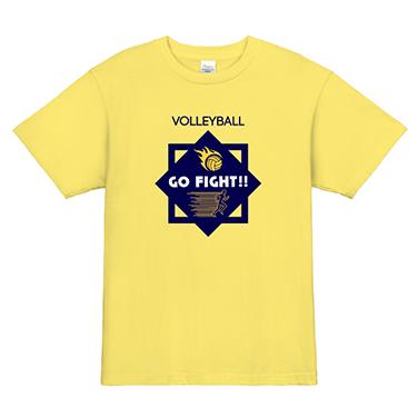 「GO FIGHT!」オリジナルバレーボールチームTシャツ
