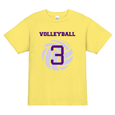 「VOLLEYBALL」オリジナルバレーボールチームTシャツ