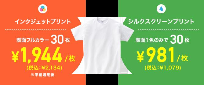 定番Tシャツで比較