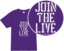 JOIN THE LIVE Tシャツデザイン
