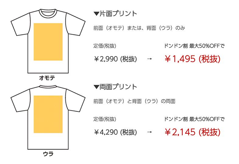 定番Tシャツの価格
