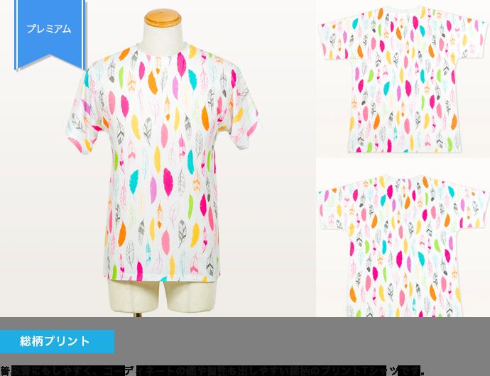 プレミアムフルグラフィックTシャツの事例 総柄プリント