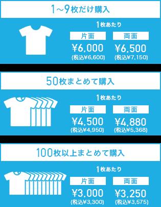 プレミアムフルグラフィックTシャツの価格