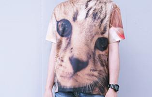 フルグラフィックTシャツの着用写真