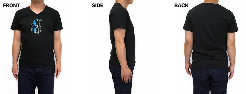VネックTシャツの着用写真 男性
