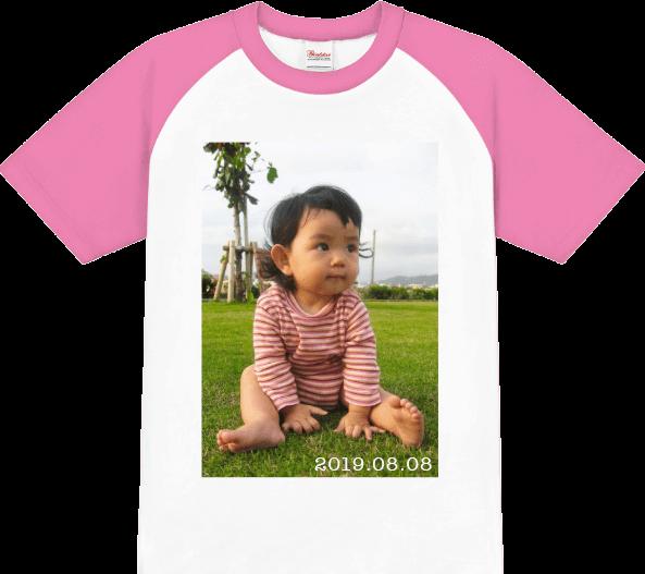 子供の写真で成長を楽しむフォトプリントTシャツ