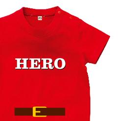 ヒーローなりきりロンパース|オリジナル出産祝いのプレゼントTシャツ