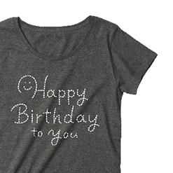 スマイル♪Happy Birthday to you|オリジナル誕生日プレゼント名入れTシャツ