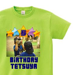 Birthday★5th★|オリジナル誕生日プレゼント名入れベビーTシャツ