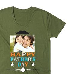 写真入りTシャツ|オリジナル父の日のプレゼントTシャツ