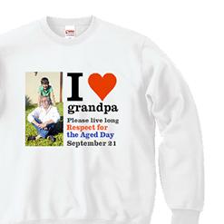 I Love grandpa|オリジナル敬老の日のプレゼントスウエット