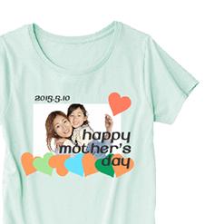 写真入りTシャツ|オリジナル母の日のプレゼントTシャツ