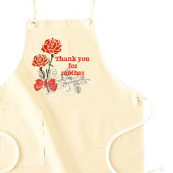 カーネーションエプロン|オリジナル母の日のプレゼントTシャツ