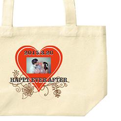 写真入りお祝いトートバッグ|オリジナル結婚祝いのプレゼントTシャツ