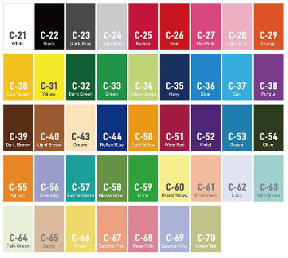 プリント基本指定色