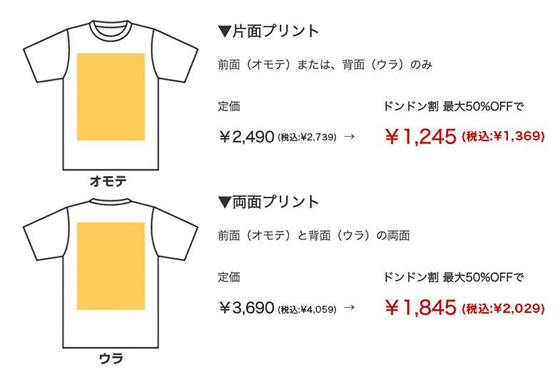 お手頃Tシャツの価格