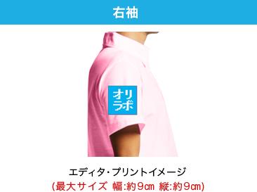 オリジナルポロシャツのプリント位置 右袖