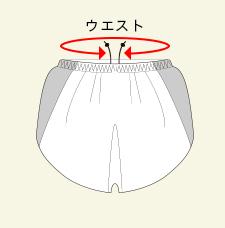 ランニングパンツのサイズガイド