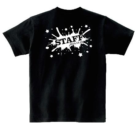 STAFFスプラッシュホワイト オリジナルスタッフTシャツ