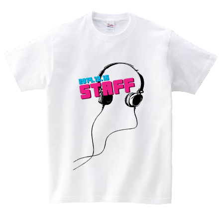 STAFFヘッドフォン オリジナルスタッフTシャツ