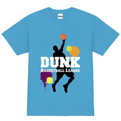 バスケットボール_ダンク Tシャツデザインテンプレート